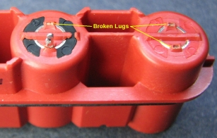 Broken lugs on back of jack assembly