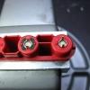 Plugs set, ready for sealing.