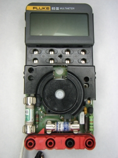 Meter assembly, top view