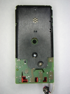 Meter assembly, bottom view