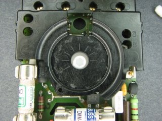 Switch in OFF position for case re-assembly