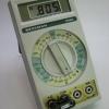Ohms calibration check with 806-ohm precision resistor.