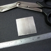 The new pressure clip will be fashioned from a 40x40mm square of aluminum.