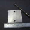 "The holes are drilled 29.5mm apart, centered. An 11/64"" bit was used for the #8 screws."