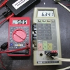 The readings start to go more than 1% off when the battery voltage reaches 6.34V.