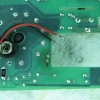 Battery leads removed to clean the mess on the PCB where they were soldered.