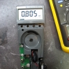 Boots up!  Measuring an 806-ohm precision resistor.  This is promising.