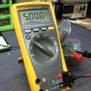 DC voltage calibration check with 5V reference.