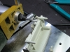 Milling the back side.  Careful not to remove support post.