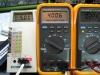 Even though 'Low Battery' comes on at 7.65V, the meter works and is accurate down to 4.00V supply voltage (on a DC power supply.)