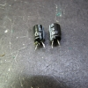 Two electrolytics total, both have leaked.