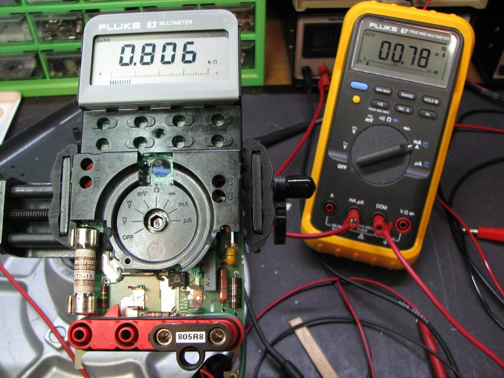Fluke 83 DMM Repair | Mr  ModemHead