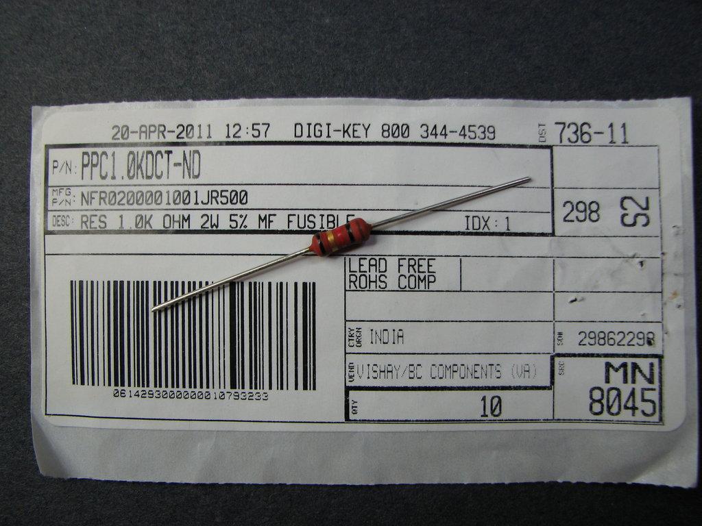 Fluke 87 Fusible Resistor Mr Modemhead Circuit Diagram With Voltmeter F87fr 010