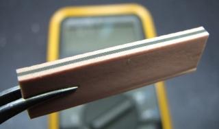 Elastomeric connector, aka 'zebra strip'