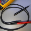 Leads are thick and sturdy and not removable, but the probes are modular.