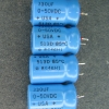 Three of these capacitors are shorted, which is an unusual failure mode in my experience. The fourth still measures 328uF.  All were replaced. These caps are manufactured by Sprague. (Thanks, RC)