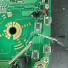 Carbon residue removed. PCB could not be routed all the way through, there are tracks on the other side.