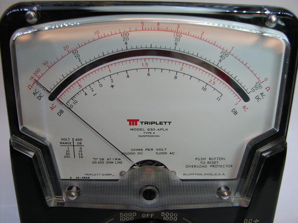 Triplett Analog Multimeter : Triplett vom mr modemhead