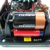 Top battery: 1.5V D-cell